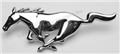71-72 CHROME RUNNING HORSE ORNAMENT FOR STANDARD GRILL