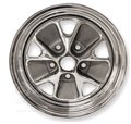 65 CHROME STYLED STEEL WHEEL-14 X 5 (STOCK SIZE)