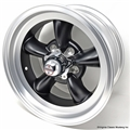15 x 7 American Torq-Thrust D Wheel  Black Center - 5 Lug
