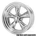 15 X 7 POLISHED AMERICAN TORQ-THRUST II WHEEL 5 LUG