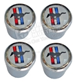 MUSTANG LOGO VALVE STEM CAPS-SET OF 4