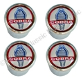 COBRA LOGO VALVE STEM CAP-SET OF 4