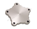BILLET ALUMINUM WHEEL CENTER COVERS FOR AMERICAN TORQ THRUSTS-PLAIN-SET OF 4