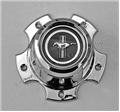 73 WHEEL CENTER CAP FOR SLOTTED ALUMINUM WHEEL (INCLUDES PLASTIC PONY EMBLEM)