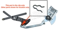 65-66 WINDOW REGULATOR TO SCISSORS CLIP EACH
