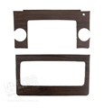 69-70 Woodgrain Inserts for Radio and Heater Control Bezel
