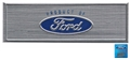 67 BLUE STEP PLATE LABEL SMALLER FORD OVAL WITH PRODUCT OF
