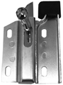 66-70 LH FASTBACK REAR SEAT LATCH WITH BUMPER