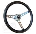 64 1/2 Mustang GT Classic Black Foam Steering Wheel Assembly