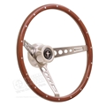 65-67 Mustang GT Retro Wood Steering Wheel Assembly