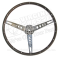 65-66 SIMULATED WOODGRAIN STEERING WHEEL ONLY