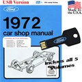 1972 Ford Shop Manual USB Drive