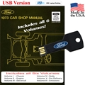 1973 Ford Shop Manual USB Drive