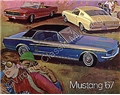 67 MUSTANG COLOR SALES BROCHURE