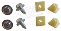 MUSTANG LICENSE PLATE SCREW AND INSERT NUT KIT (TRIANGLE HEAD MARKING HEX FLANGE SCREWS)