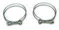65-70 FUEL FILLER PIPE HOSE CLAMPS (2)