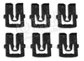 67-68 COUPE UPPER REAR WINDOW MOLDING CLIPS- LONG STYLE (6)