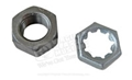 POWER STEERING CYLINDER SHAFT HEX NUT AND STAMPED RETAINER NUT