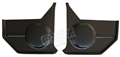 67-68 Mustang Convertible Kick Panels - Black - with Standard Speakers - Pair