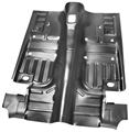69-70 MUSTANG ONE PIECE COMPLETE FLOOR PAN (WITH SEAT RISER PANS) -COUPE AND FB