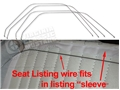 65-66 FRONT SEAT LISTING WIRE SET FOR STANDARD FRONT BUCKETS