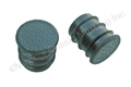 67 BLACK DELUXE ARM REST PLUGS-PAIR