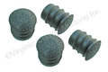 68 BLACK DELUXE ARM REST PAD PLUGS-SET OF 4