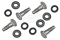 65-66 Front Seat Belt Bolt and Washer Set-(4 Bolts and 8 Washers)