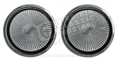 68-70 ALUMINUM COVER FOR SEAT BELT RELEASE BUTTON-PAIR