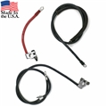 72-73 BATTERY AND STARTER CABLE SET