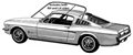 65-66 FASTBACK ROOF RAIL WEATHERSTRIP-PAIR