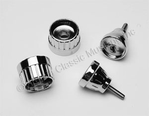 65-66 CHROME RADIO KNOB SET (4)