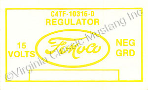 64 1/2 VOLTAGE REGULATOR DECAL WITH AIR