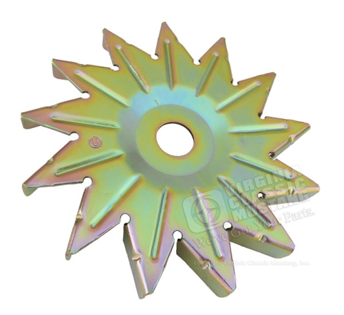 Alternator Fan - Gold Zinc plating