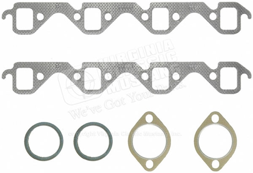 EXHAUST MANIFOLD GASKETS WITH DOUGHNUTS FITS 260, 289, 302, 351W