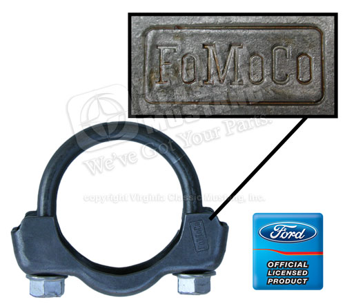 65-67 CORRECT FOMOCO STAMPED 2 INCH EXHAUST CLAMP-EACH