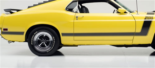 Magnum 500 Wheels >> 70 BLACK BOSS 302 STRIPE KIT