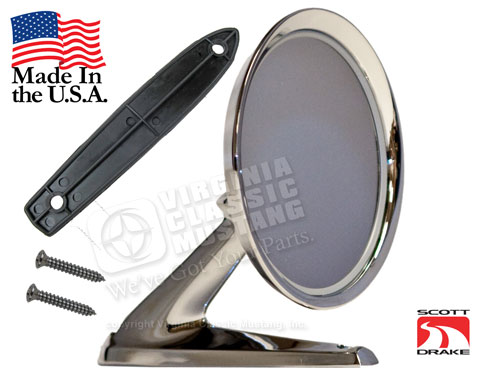 65-66 RH STANDARD OUTSIDE MIRROR-CONVEX GLASS-BEST AVAILABLE