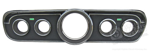 65 GT INSTRUMENT BEZEL-USE WITH STANDARD INTERIOR-WITH GAUGES