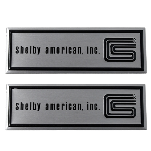 66 GT350 SHELBY AMERICAN STEP PLATE LABELS- PAIR