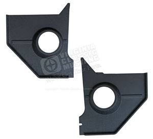 "65-66 COUPE/FASTBACK BLANK KICK PANEL SPEAKERS-PAIR WITH 5 1/4"" SPEAKER HOLE *INDICATE COLOR*"