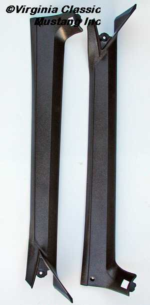 69 70 Fastback Windshield Pillar Post Interior Molding Pair