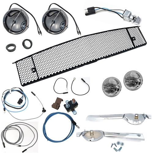65 FOG LAMP CONVERSION KIT WITH GRILL
