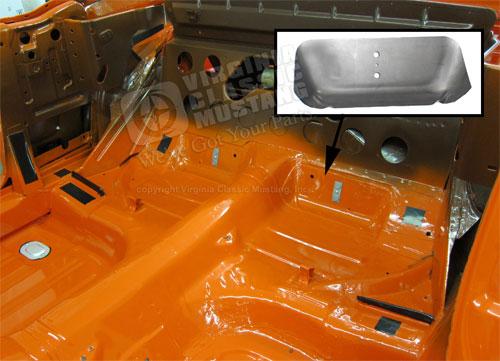 1969 ford alternator wiring diagram 65 mustang dual exhaust floor pan reinforcement plate lh  65 mustang dual exhaust floor pan reinforcement plate lh
