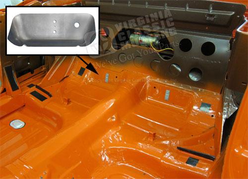 ford model a wiring 66 mustang dual exhaust floor pan reinforcement plate rh  66 mustang dual exhaust floor pan reinforcement plate rh