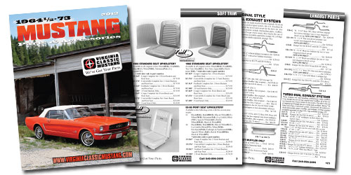 2007 Virginia Classic Mustang parts catalog
