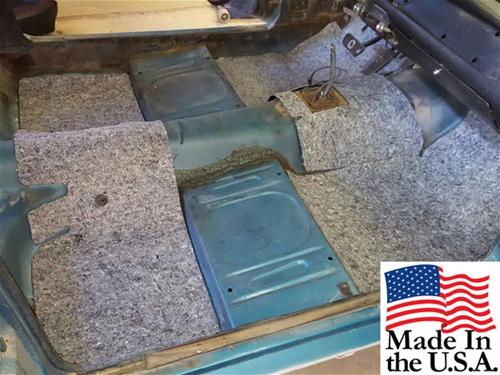 65 73 Mustang Sound Deadener Heat Barrier Carpet Underlayment Set Original Material