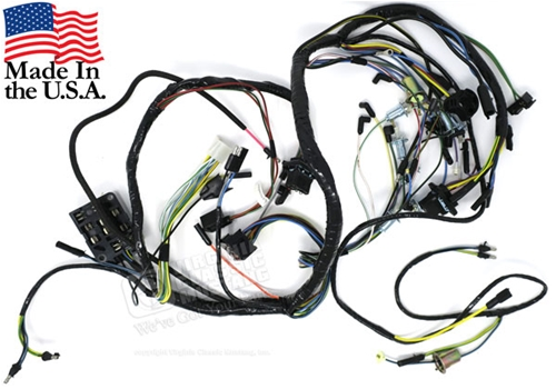 65 mustang under dash wiring harness - with gauges and 3 speed heater motor  virginia classic mustang