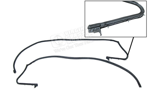 NEW 1969-1970 Mustang Fastback Roof Rail Weatherstrip Seal Pair Left and Right